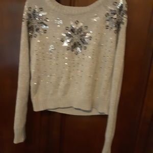 Justice snowflake sweater